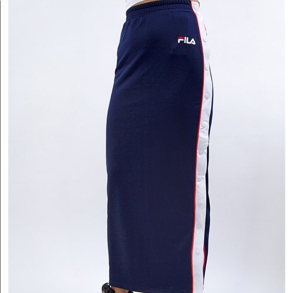 56c064ca3ed FILA Faustina Tear Away Maxi Skirt Size Small NWT